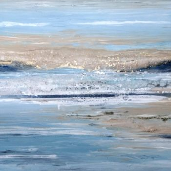 Seascape Painting, acrylic, abstract, artwork by Eleni Denart