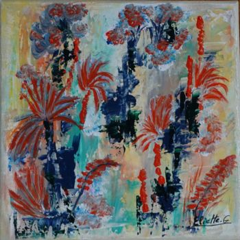 Abstract Painting, acrylic, expressionism, artwork by Eliette Gaurin