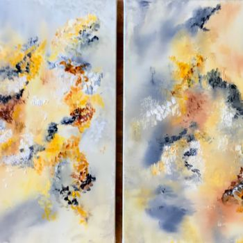 """Painting titled """"Twin Flames"""" by Elisa Cook, Original Art, Oil"""