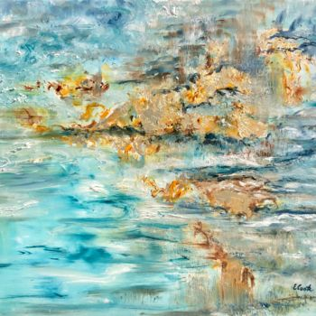 """Painting titled """"Murmurs of Gold and…"""" by Elisa Cook, Original Art, Oil"""