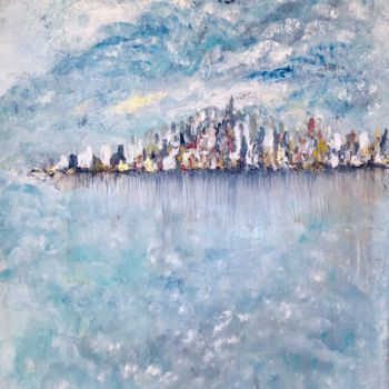 """Painting titled """"Sailing into the Li…"""" by Elisa Cook, Original Art, Other"""