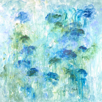 """Painting titled """"Melting the Blues A…"""" by Elisa Cook, Original Art, Acrylic"""