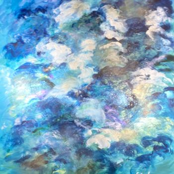 """Painting titled """"Blowing Blues"""" by Elisa Cook, Original Art, Acrylic"""