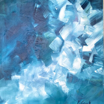 """Painting titled """"Ice Cubes"""" by Elisa Cook, Original Art, Acrylic"""