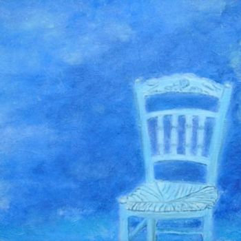 """Painting titled """"Les chaises ont aus…"""" by Elisa Cook, Original Art, Other"""