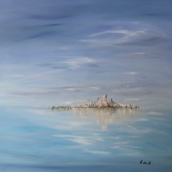 """Painting titled """"Into the blue"""" by Elisa Cook, Original Art, Oil"""