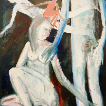 """Painting titled """"WHO IS IN THE BRAIN"""" by Elisaveta Sivas, Original Art, Oil"""
