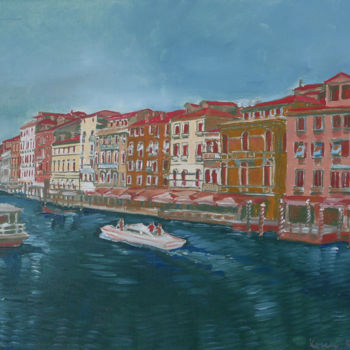 """Painting titled """"Venice above the bl…"""" by Emilia Amaro, Original Art, Oil"""