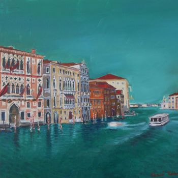 """Painting titled """"Venice above the gr…"""" by Emilia Amaro, Original Art, Oil"""