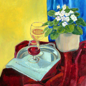 """Painting titled """"Still live with 2 g…"""" by Emilia Amaro, Original Art, Oil"""