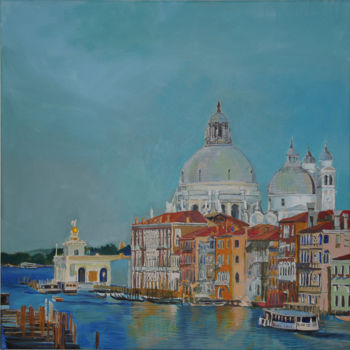 """Painting titled """"Venice view with th…"""" by Emilia Amaro, Original Art, Acrylic"""