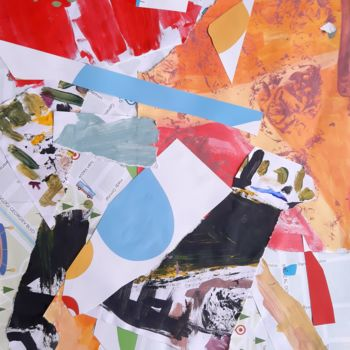 """Collages titled """"Street Geometry Col…"""" by Emil Borisov, Original Art, Acrylic"""