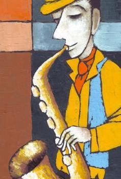 """Painting titled """"The Musician in a Y…"""" by Eugene Ivanov, Original Art, Oil"""