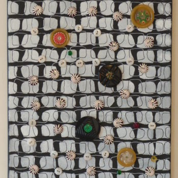 Painting, outsider art, artwork by Eve Cloarec