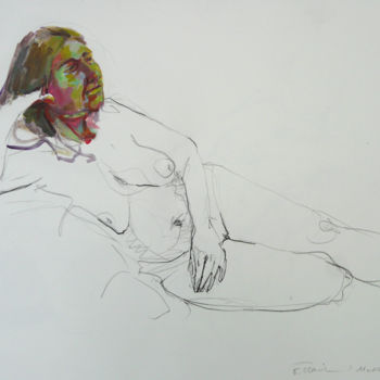 Drawing, graphite, figurative, artwork by Eve Clair