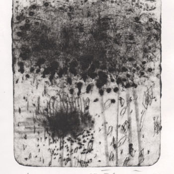 Printmaking, engraving, abstract, artwork by Eve Clair