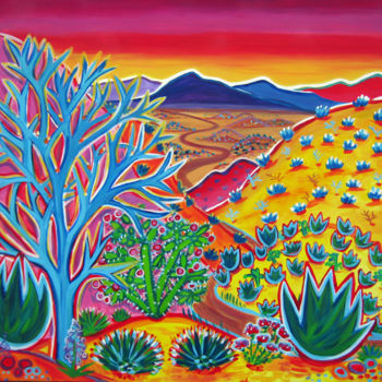 """Painting titled """"Along the Road to M…"""" by """"Colorscapes Fine Art"""" Rachel Houseman, Original Art, Acrylic"""