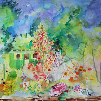 """Painting titled """"The Wagon, Crinan C…"""" by Fraser Maciver (1960 - 2019), Original Art, Watercolor"""