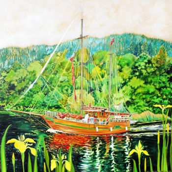 """Painting titled """"Ingjerd of Norway"""" by Fraser Maciver (1960 - 2019), Original Art, Oil"""