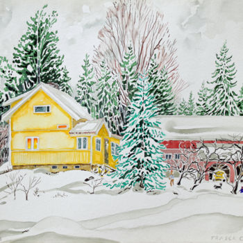 """Painting titled """"Finland Suite - Hou…"""" by Fraser Maciver (1960 - 2019), Original Art, Watercolor"""