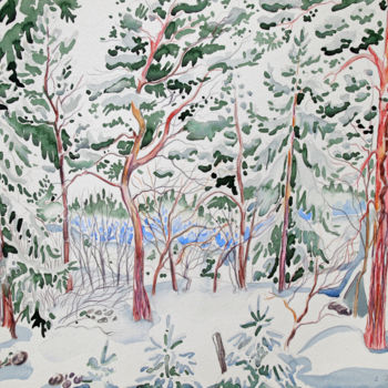 """Painting titled """"Finland Suite - Bac…"""" by Fraser Maciver (1960 - 2019), Original Art, Watercolor"""