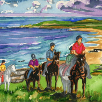 """Painting titled """"Islay Suite - Pony…"""" by Fraser Maciver (1960 - 2019), Original Art, Watercolor"""