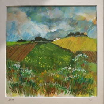 """Painting titled """"paysage deprintemps"""" by Florence Oulhiou, Original Art, Acrylic"""