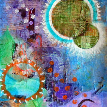 """Collages titled """"Eclipse"""" by Veronica Stewart, Original Art, Paper"""
