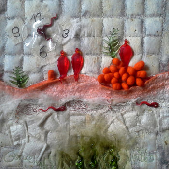 Textile Art, embroidery, artwork by Françoise Maillet