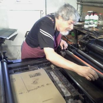 Printmaking, lithography, artwork by Françoise Maillet