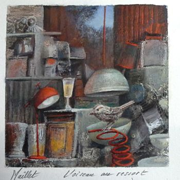 Painting, pastel, artwork by Françoise Maillet