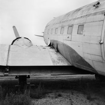 Airplane Photography, analog photography, artwork by Frédéric Duchesnay