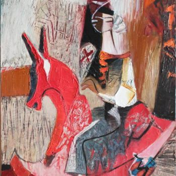 """Painting titled """"Red horse"""" by Galya Didur, Original Art, Acrylic"""