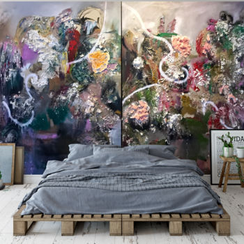 """Painting titled """"Diptychs Time Line…"""" by Gao, Original Art, Oil"""