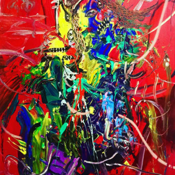 """Painting titled """"Chaotic Relationshi…"""" by Gao, Original Art, Oil"""