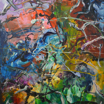 """Painting titled """"Chaos (1) - Abstrac…"""" by Gao, Original Art, Oil"""