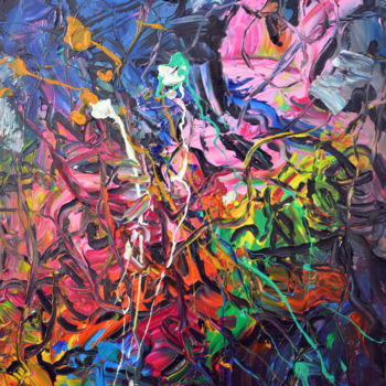 """Painting titled """"Chaos (4) - Abstrac…"""" by Gao, Original Art, Oil"""