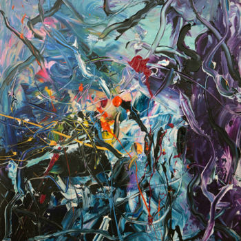 """Painting titled """"Chaos (8) - Abstrac…"""" by Gao, Original Art, Oil"""