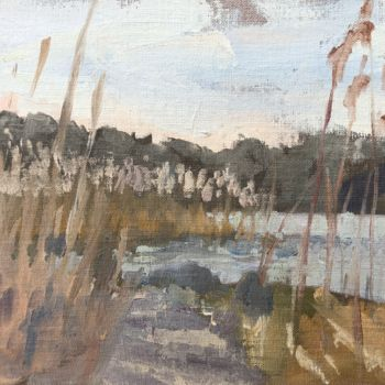 """Painting titled """"Path to the Pond"""" by Georgina Rey, Original Art, Oil"""