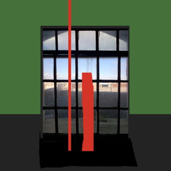 """Digital Arts titled """"Two Red Lines On A…"""" by Gerald Shepherd, Original Art, Digital Painting"""