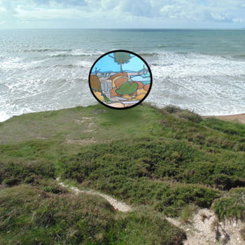 """Digital Arts titled """"The Orb On The Coast"""" by Gerald Shepherd, Original Art, Collages"""