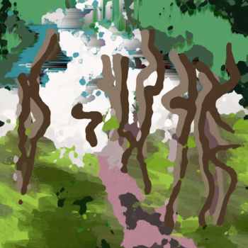 """Digital Arts titled """"The Path Out Of The…"""" by Gerald Shepherd, Original Art, 2D Digital Work"""