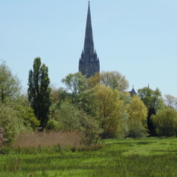 """Photography titled """"Salisbury Cathedral…"""" by Gerald Shepherd, Original Art, Digital Photography"""