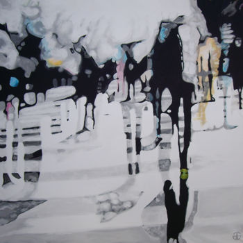 """Painting titled """"Rue 4"""" by Gerard Jouannet, Original Art, Acrylic"""
