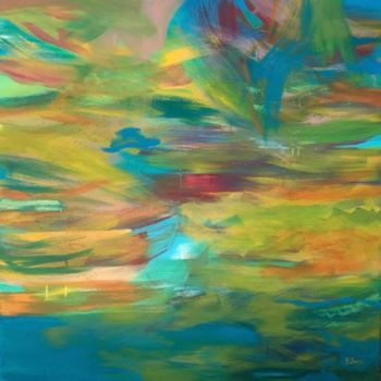 """Painting titled """"«Tropical»."""" by Gilles Surgès, Original Art, Acrylic"""