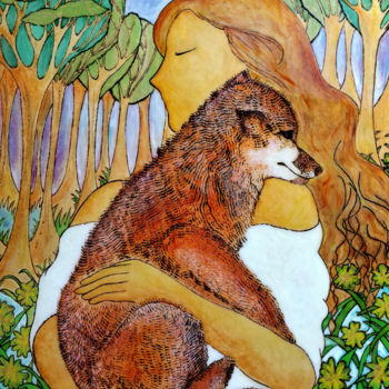 """Painting titled """"Embrace the wild"""" by Gioia Albano, Original Art, Ink"""
