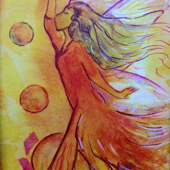 """Painting titled """"Remember the playfu…"""" by Gioia Albano, Original Art, Watercolor"""