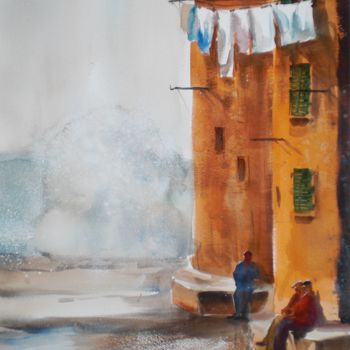 """Painting titled """"looking to the sea"""" by Giorgio Gosti, Original Art, Watercolor"""