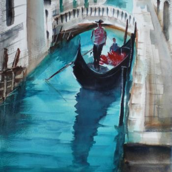 """Painting titled """"Venice 14"""" by Giorgio Gosti, Original Art, Watercolor"""