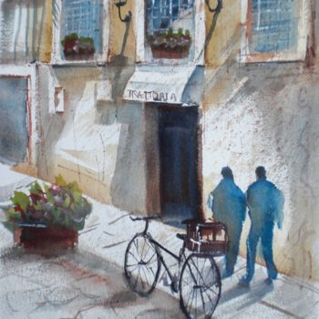 """Painting titled """"the bike 2"""" by Giorgio Gosti, Original Art, Watercolor"""